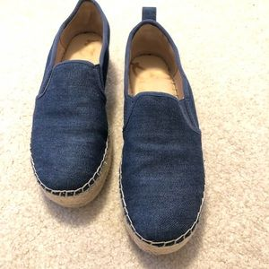 Sam Edelman denim platforms.